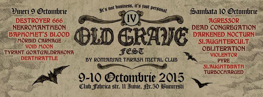 Bucarest-Roumanie, le 10/10/2015 Old Grave Fest. IV