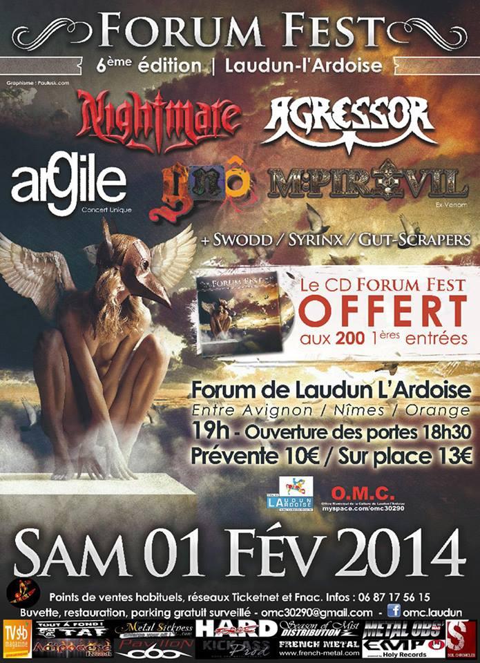 Forum Fest, Laudun L'ardoise Fr, le 01/02/2014